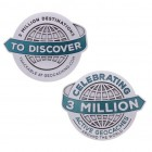 3 milioane de Geocache Geocoin -  Antic Silver XL