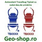 Autocolant, Travelbug, cu codul dvs. de urmărire, 1 Buc