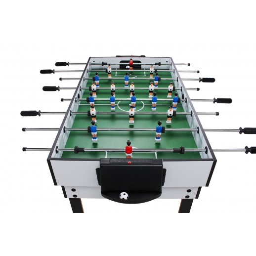 Masă Fotbal, Hobbyfashion, Multifuncțională Pentru 15 Jocuri, Alb
