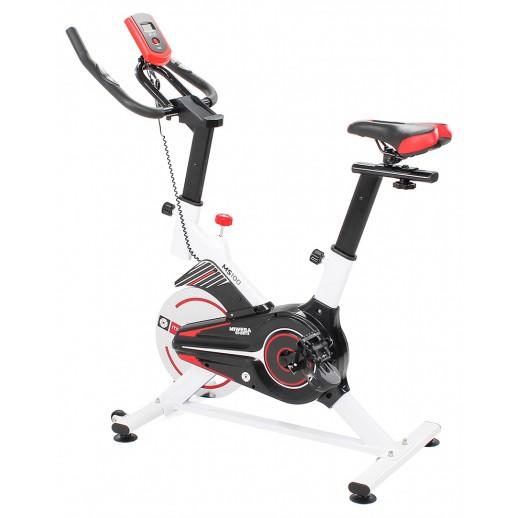 Bicicletă fitness, Hobbyfashion, MS100, Medicinală, Alb