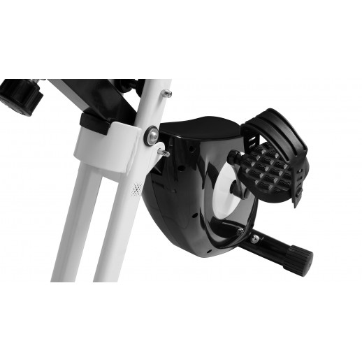 Bicicletă fitness, Hobbyfashion, MX 100 X-Bike, Medicinală, Negru/Alb