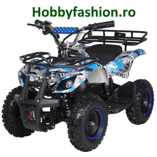 ATV, Electric, Mini Quad, Torino, 36V, 1000W, Albastru