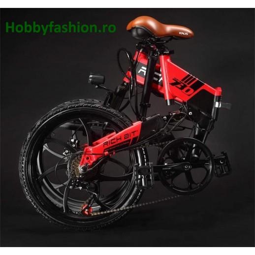Bicicletă, Electrică, Rich Bit, TOP, 730, 48 V, 250 W, Roti 20, Roșu