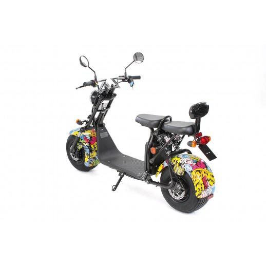 Trotineta Electrica,Scuter E Flux Harley Two,1500 Watt, 60 V 20 A,2 locuri