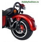 Scuter, eFlux, Harley One, 2000 W, 60 V, 20 A, Roșu Matt