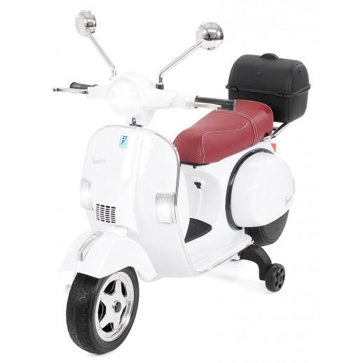 Motoretă, Pentru Copii, Vespa, PX150, 12 V 7 ap, 1 Loc, Alb